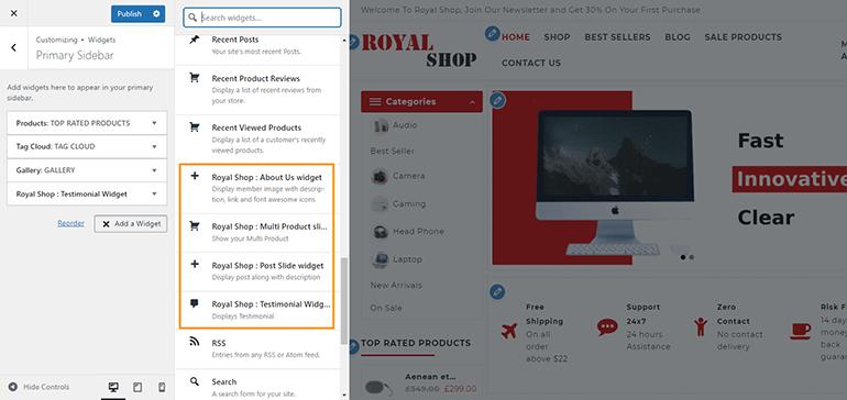 widgets-royal-shop
